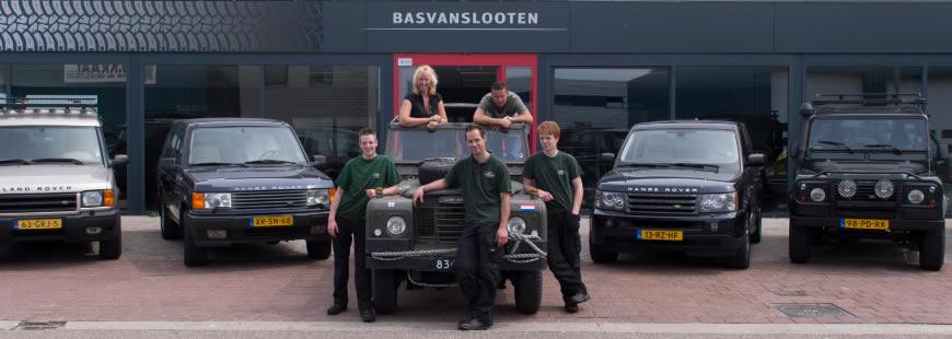 Bas van Slooten voor Landrover en Rangerover
